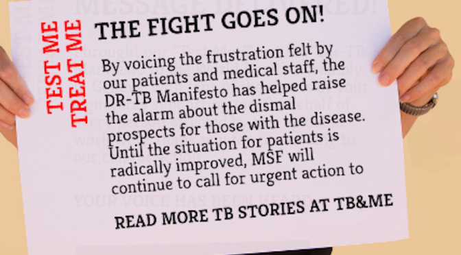 "DI Joins ""Test Me, Treat Me"" DR-TB Manifesto Campaign"