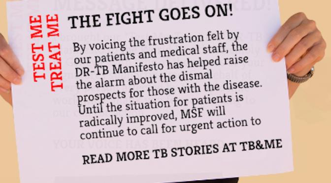 "DI Joins ""Test Me, Treat Me"" DR-TB Manifesto Campaign"