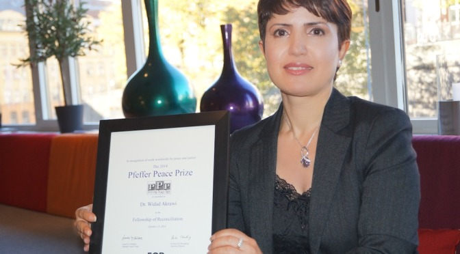 Dr Widad Awarded Pfeffer Peace Prize