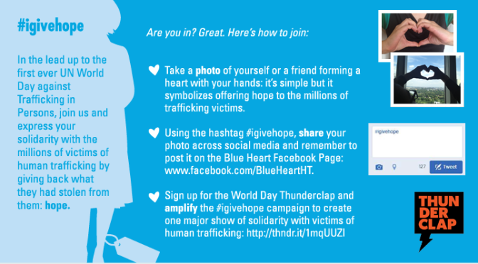 1st UN World Day against Human Trafficking
