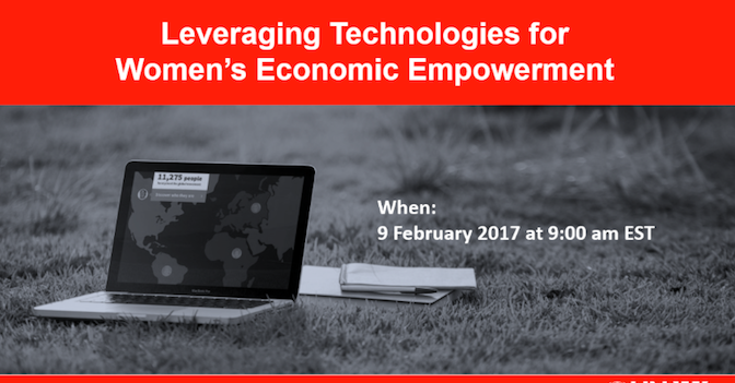 Webinar: Leveraging Technologies for Women's Economic Empowerment