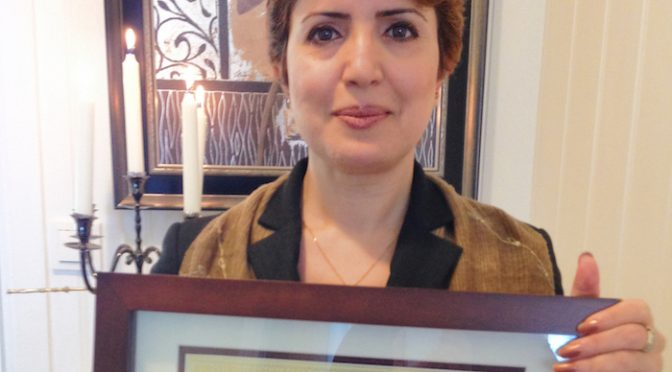 Dr. Widad Received Pacem in Terris Peace and Freedom Award