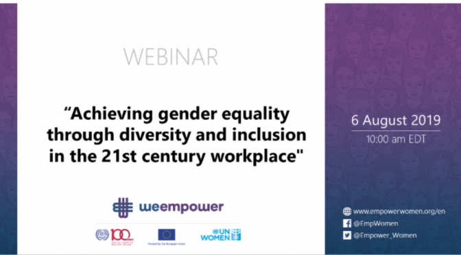 WEBINAR: GENDER EQUALITY IN WORKPLACE