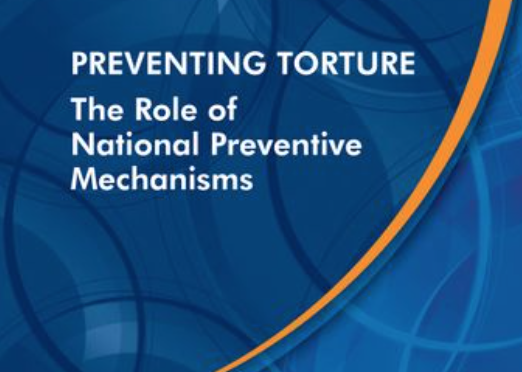 NEW PUBLICATION ON TORTURE PREVENTION